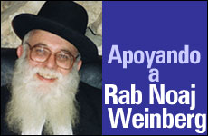 Apoyando a Rab Noaj Weinberg